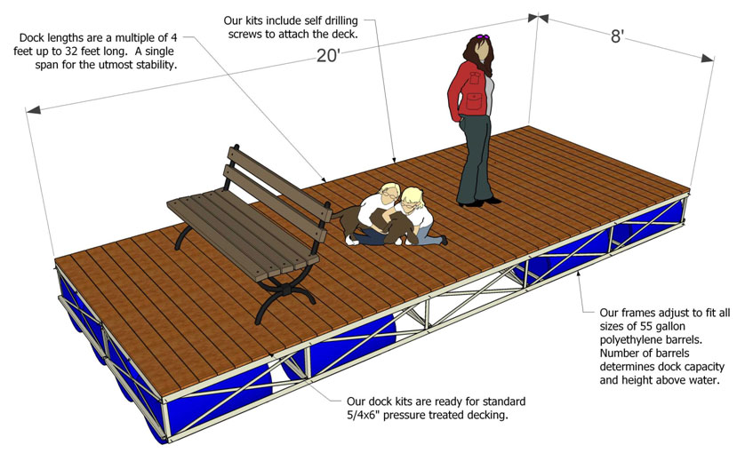 Floating Dock Kits Boat Docks For Sale