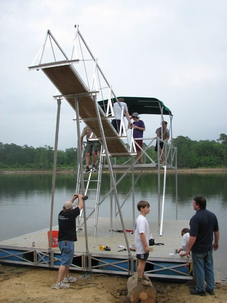 Boy Scouts Floating High Dive Rollingbarge Com