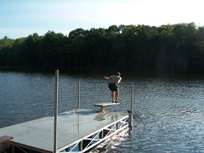 Diving Board Dock New York Rollingbarge Com