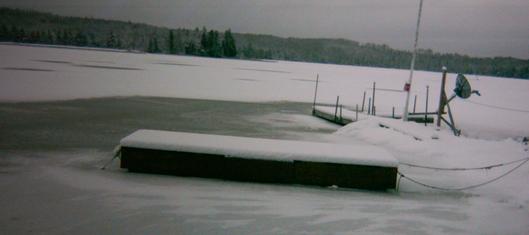 Floating Dock Barrels to Freeze Proof your Lake Dock - RollingBarge ...