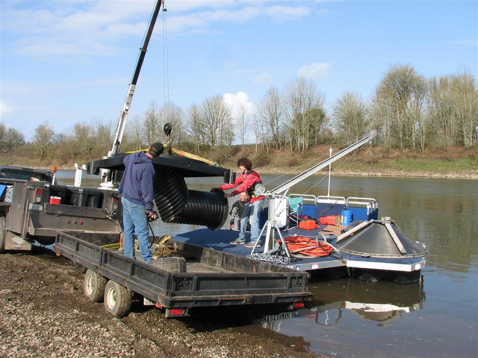 equipment utility barge