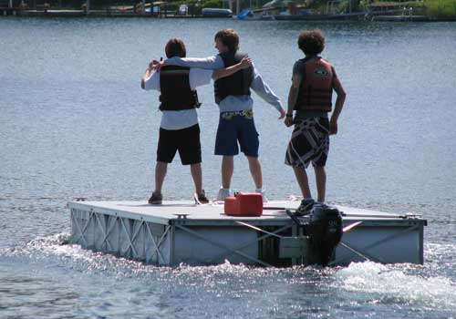 Rolling Barge's floating dock solves dock permitting problems