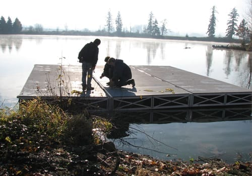 Modular design of Rolling Barge's floating dock kits