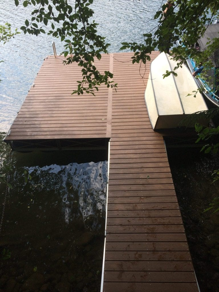 Floating Dock & Walkway Ramp Overhead