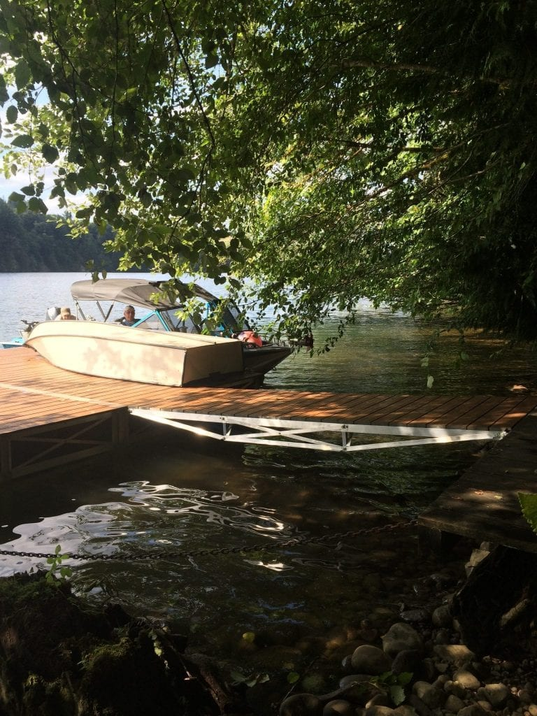 Side View of Walkway and Floating Dock