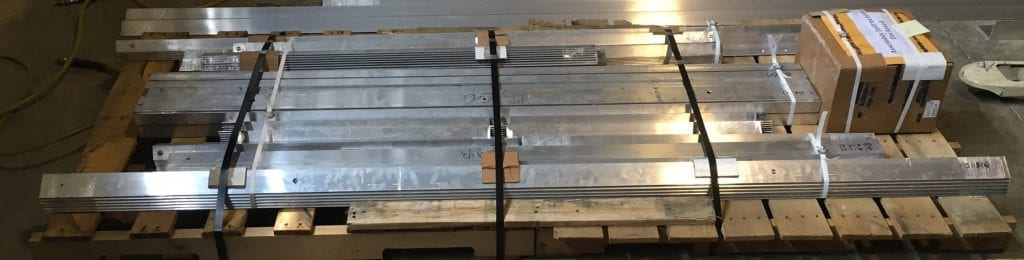 Gangway Kit Strapped to Pallet