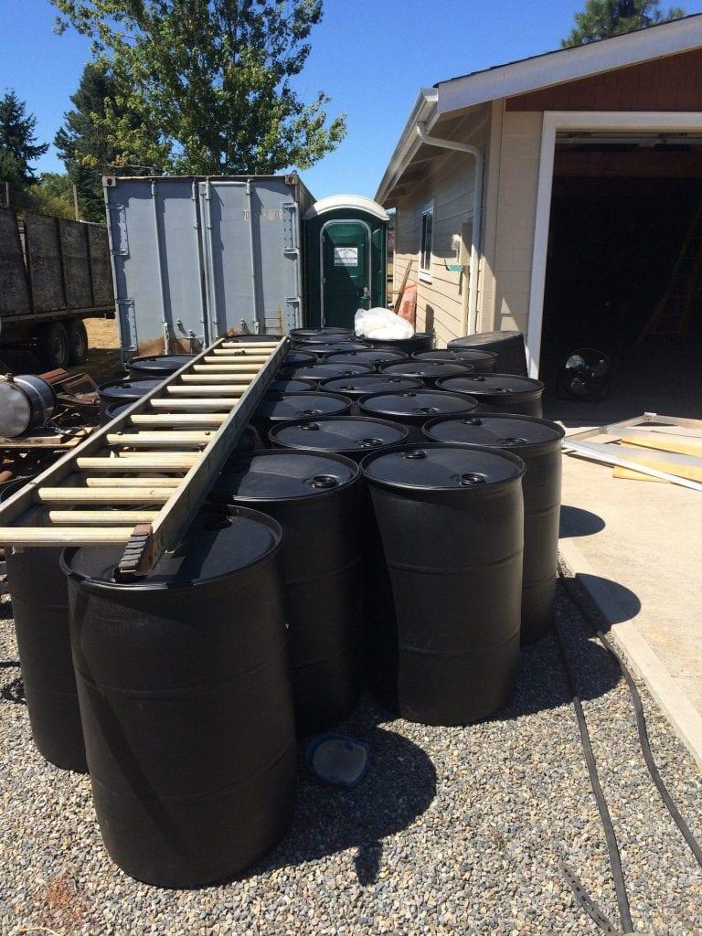 Barrels for Dock Flotation