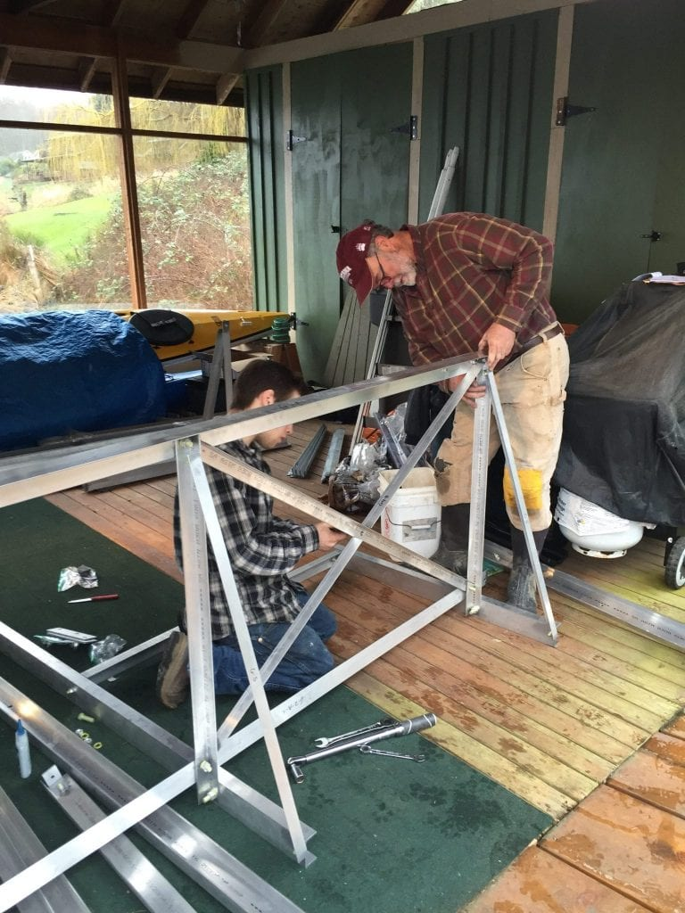 Bolting the Gangway Parts