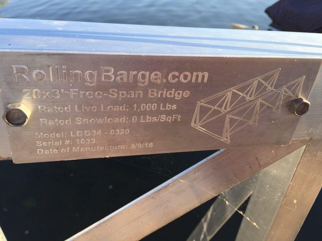 Rolling Barge Gangway Markings