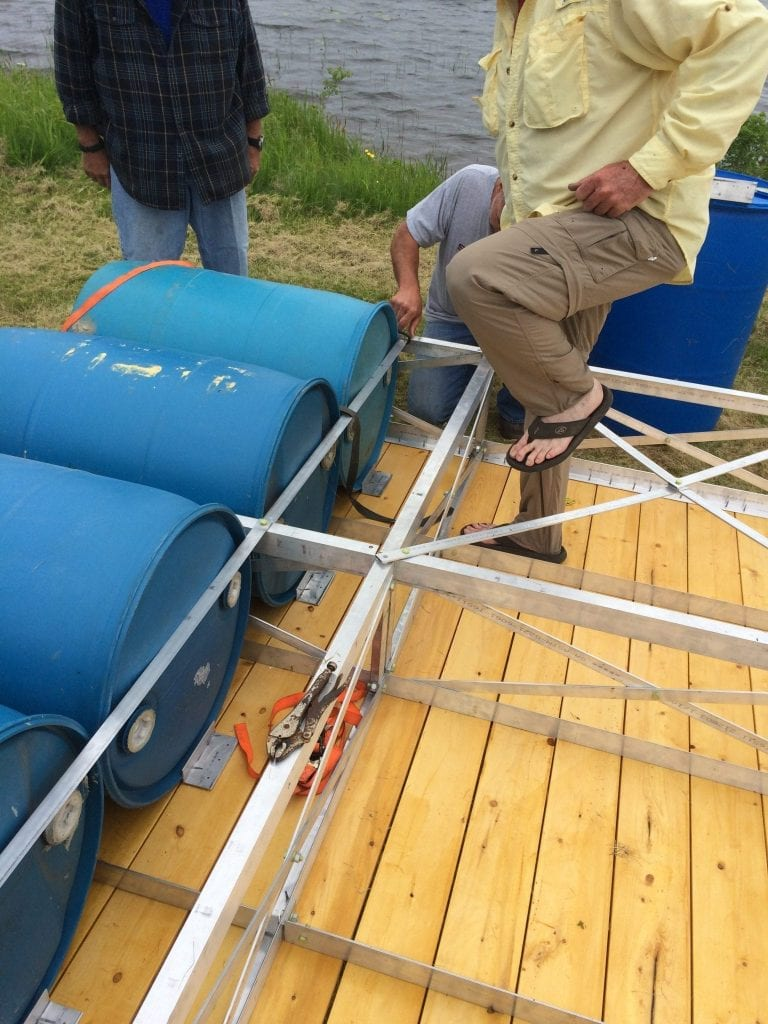 Truss Dock Barrel Installation