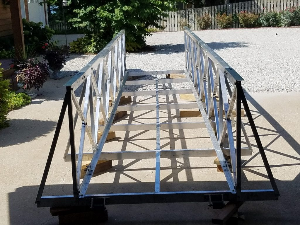 Gangway without Decking