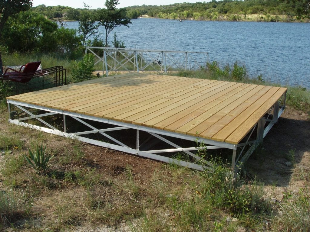 Floating Dock Frame with Decking