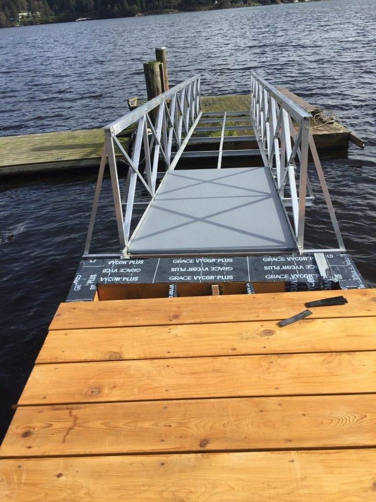 Gangway Decking Installation