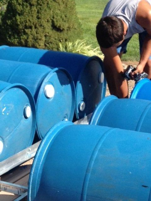 55 Gallon Plastic Barrels for Flotation