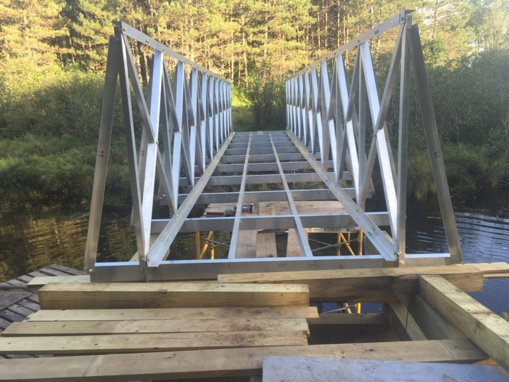 6 Foot Wide Bridge Before Decking