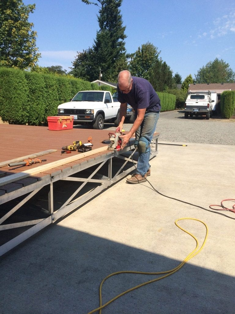 Trimming the Composite Decking