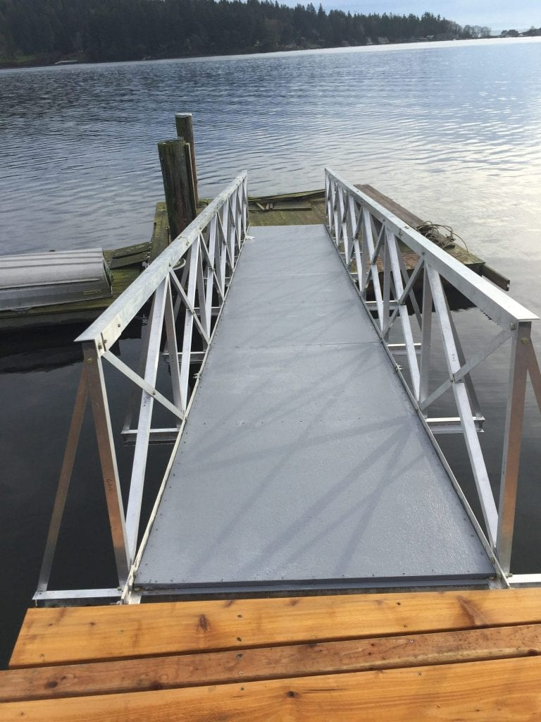 Gangway Fully Assembled and Installed
