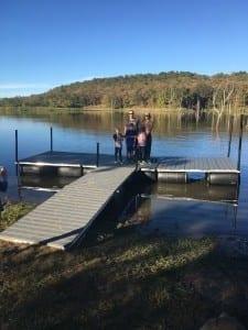 T Shaped Dock