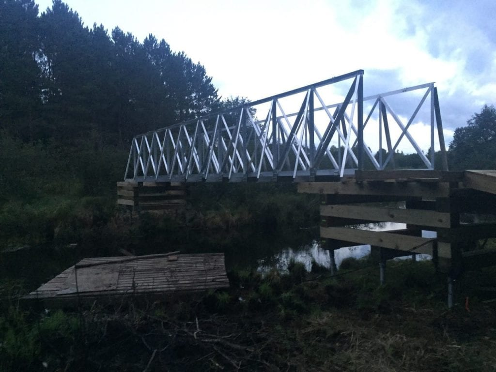 ATV Bridge Spans 48 Feet