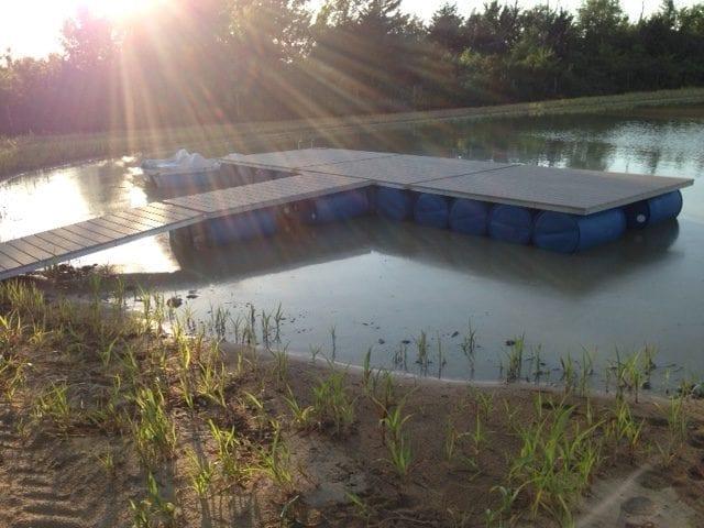 Floating Dock with Walkway Ramp
