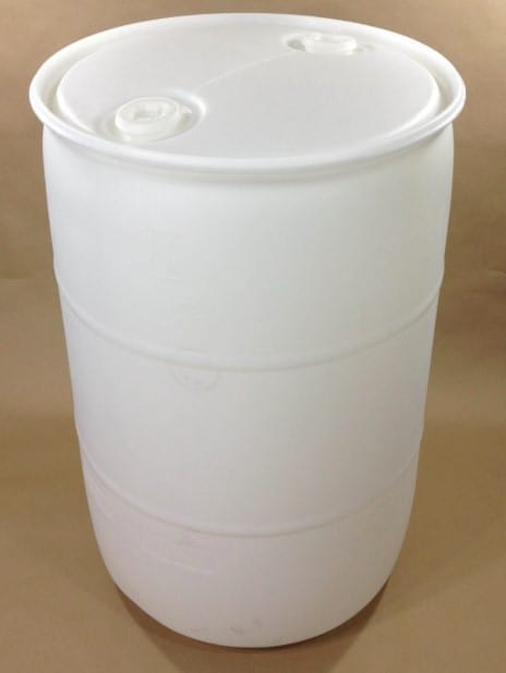 white barrel for floating dock
