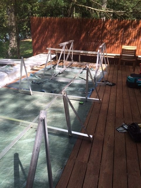 gangway and floating walkway installation 4