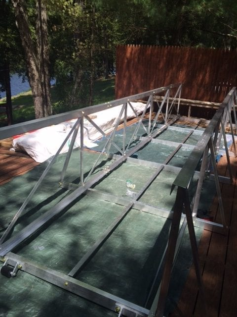 gangway and floating walkway installation 5