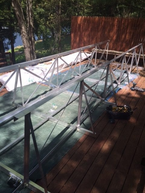 gangway and floating walkway installation 6