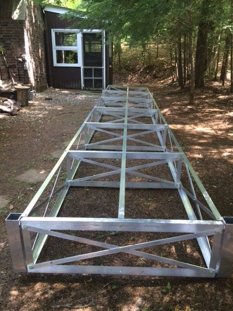gangway and floating walkway installation 7