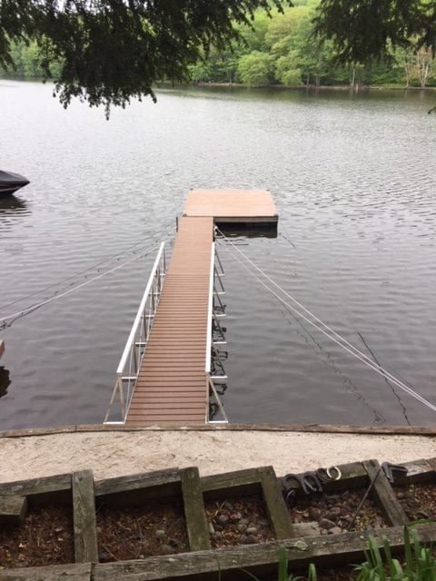 gangway and floating walkway installation 10
